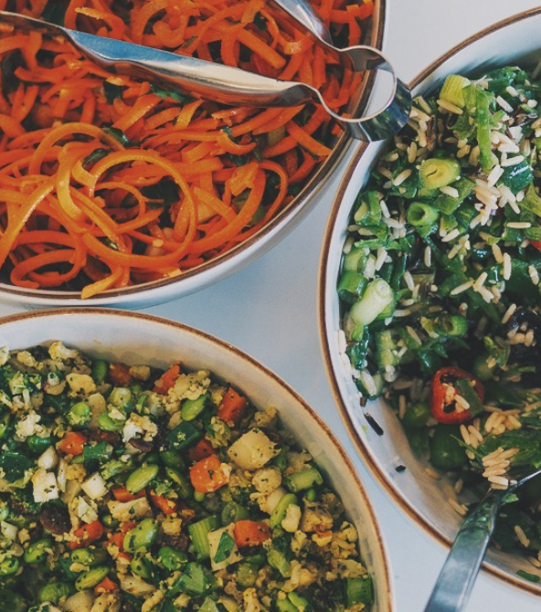 We make fresh sandwiches, colourful salads and seasonal soups each day.